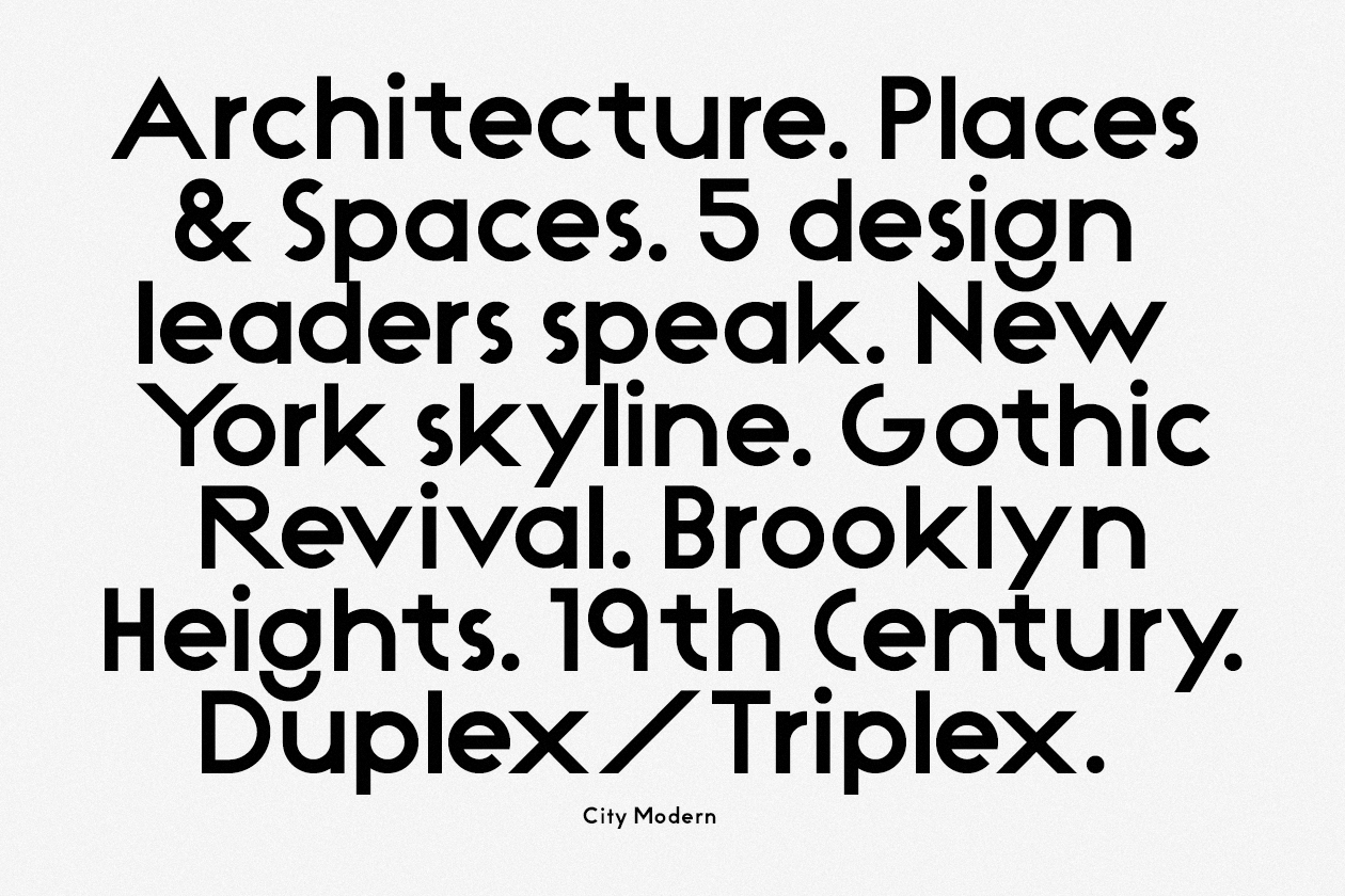 Modern Architecture Font non-format — city modern